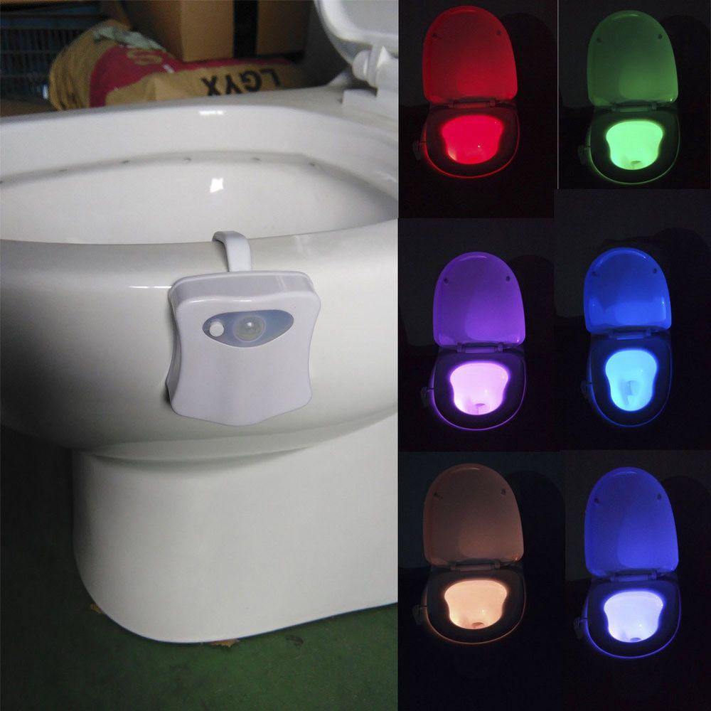 Smart Bathroom Toilet Nightlight Led Body Motion Activated Colors Seat Sensor 8 Unbranded Bathroom Night Light Motion Activated Light Night Light Lamp