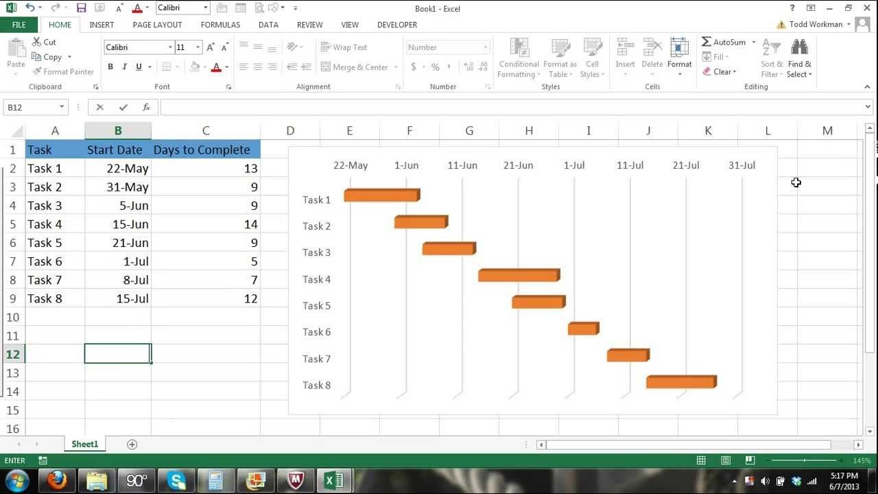 Excel gantt chart tutorial how to make a gantt chart in excel gantt chart tutorial how to make a gantt chart in microsoft exce nvjuhfo Choice Image
