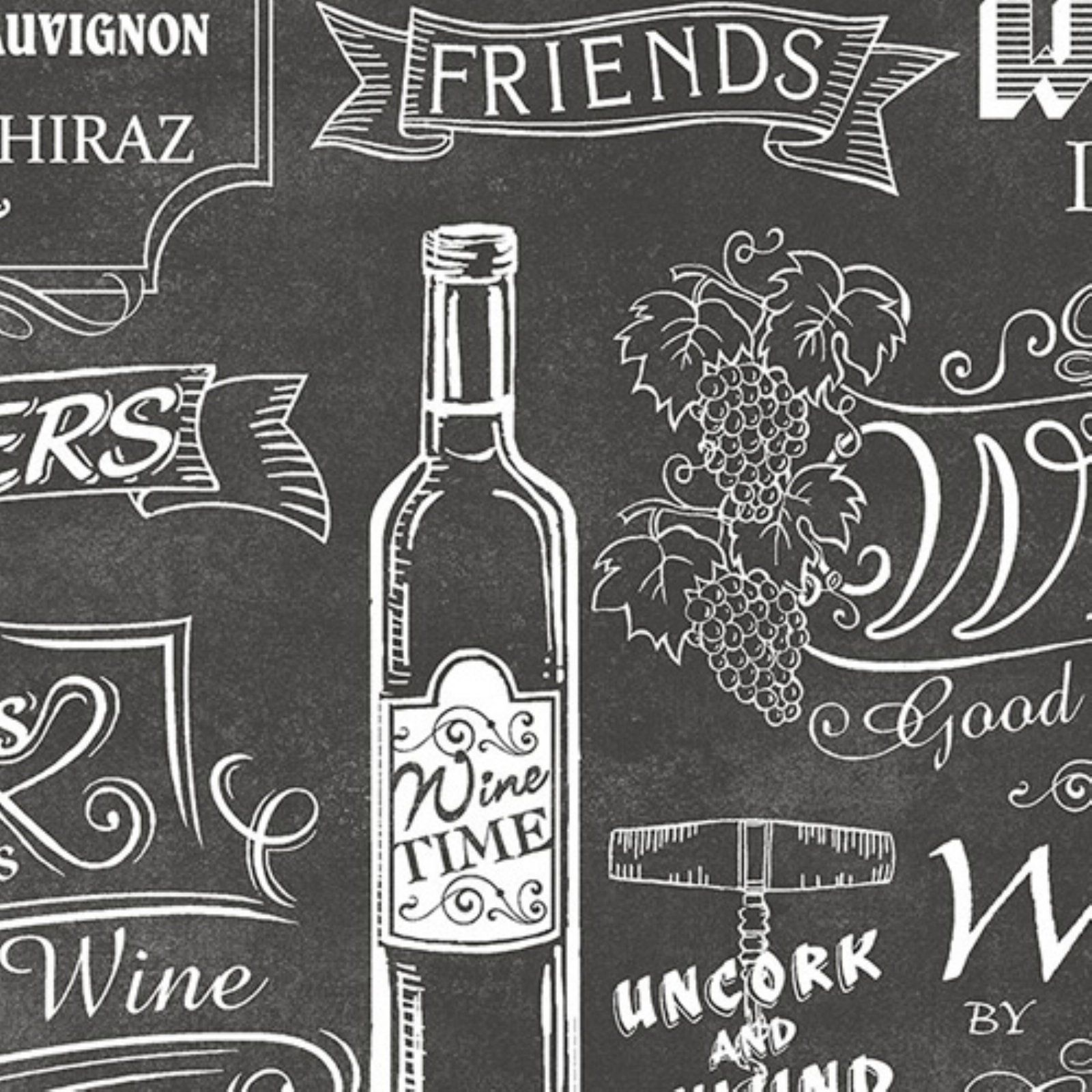 Manhattan Comfort Lincoln Chalkboard Wallpaper Black