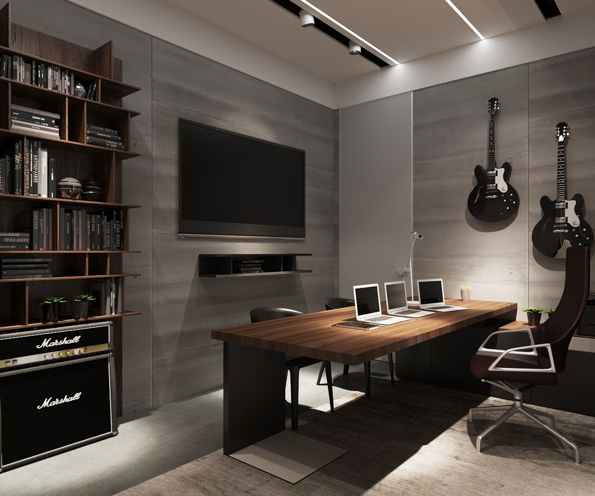 3 Examples Of Modern Simplicity Modern Home Office Home Office