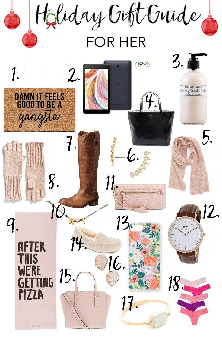 Holiday Gift Guide // For Her | Gift Guides | Pinterest | Gifts ...