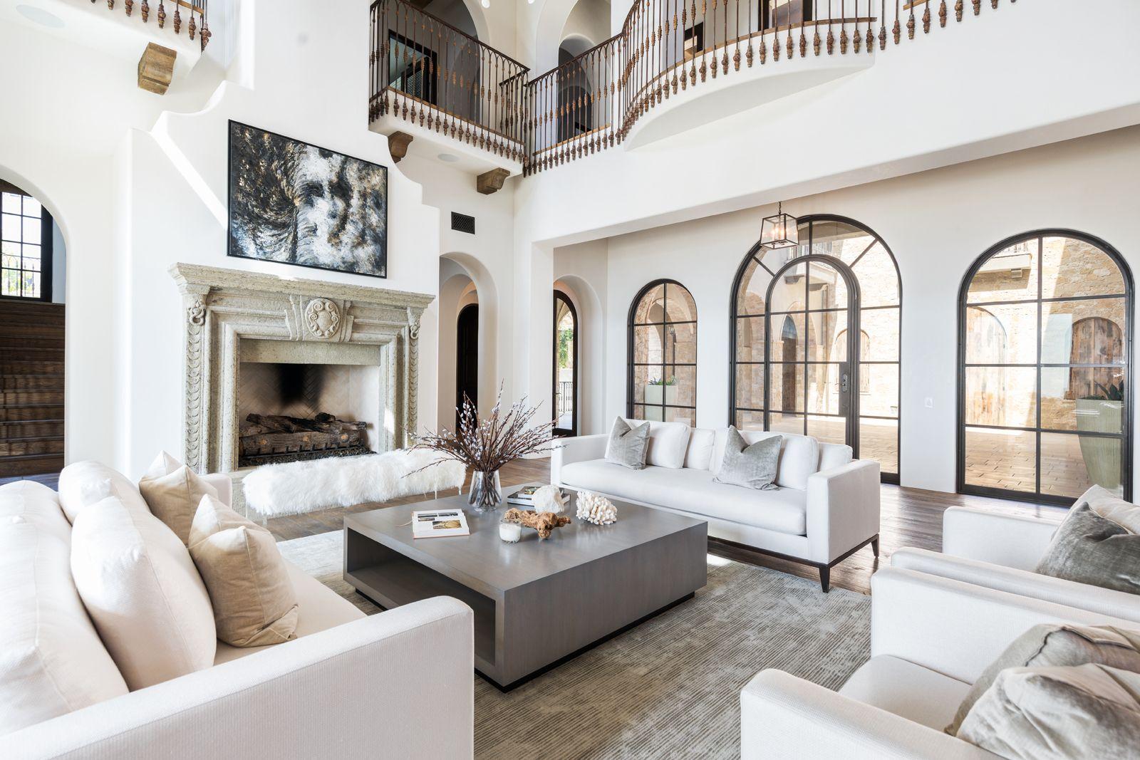 Coral Ridge Tuscan Estate — Vesta Home | Home Family & Living Room ...