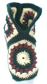 hexagon boot slipper pattern