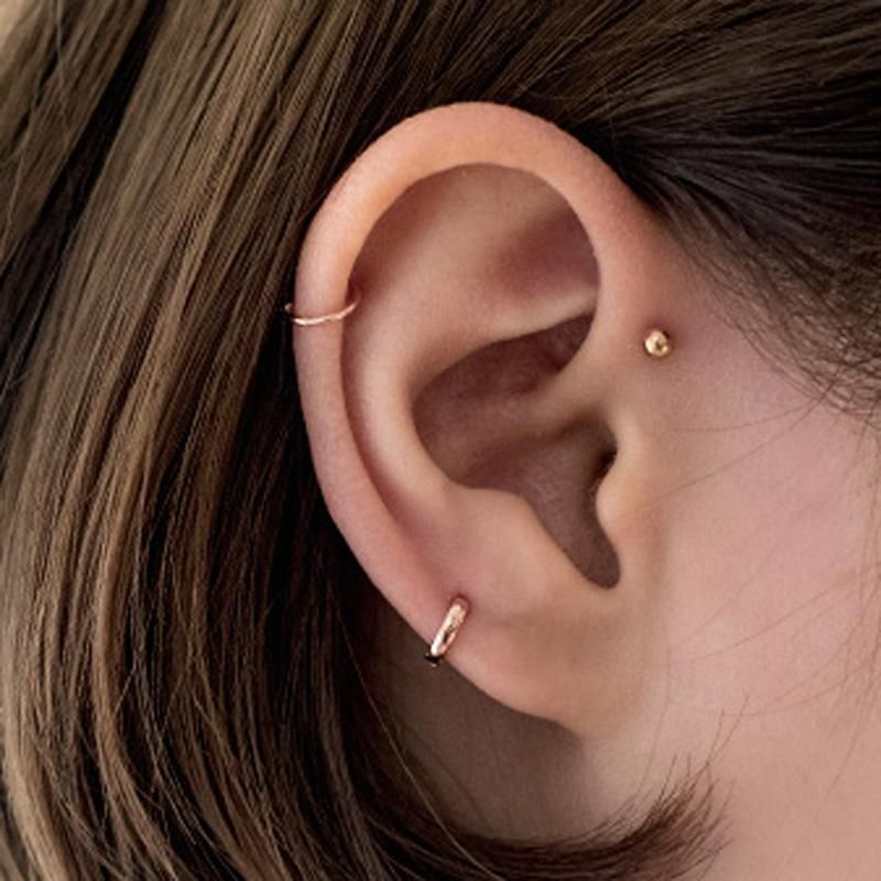 Top Must Have Jewelry Pieces For Your Wardrobe In 2020 Earings Piercings Upper Ear Piercing Ear Piercings