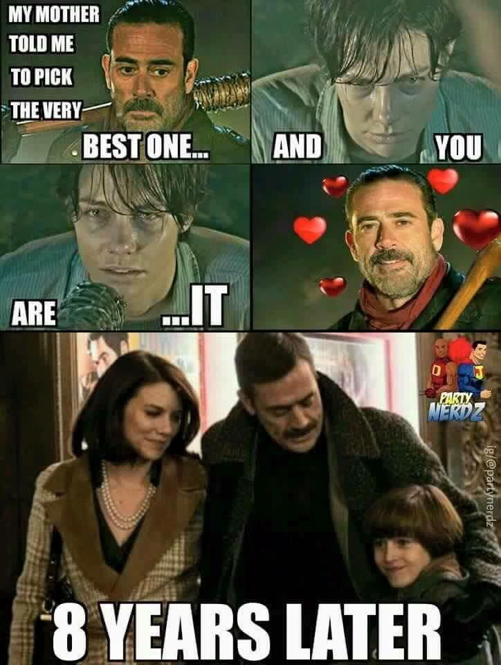 The Walking Dead Memes Maggie And Negan With Images