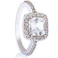 Biacno - Vakker diamantring med bergkrystall