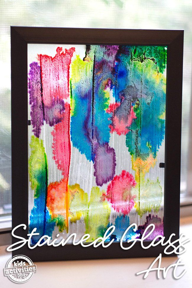 Stained Glass Art Crafty Kids Stained Glass Art Art Art For Kids