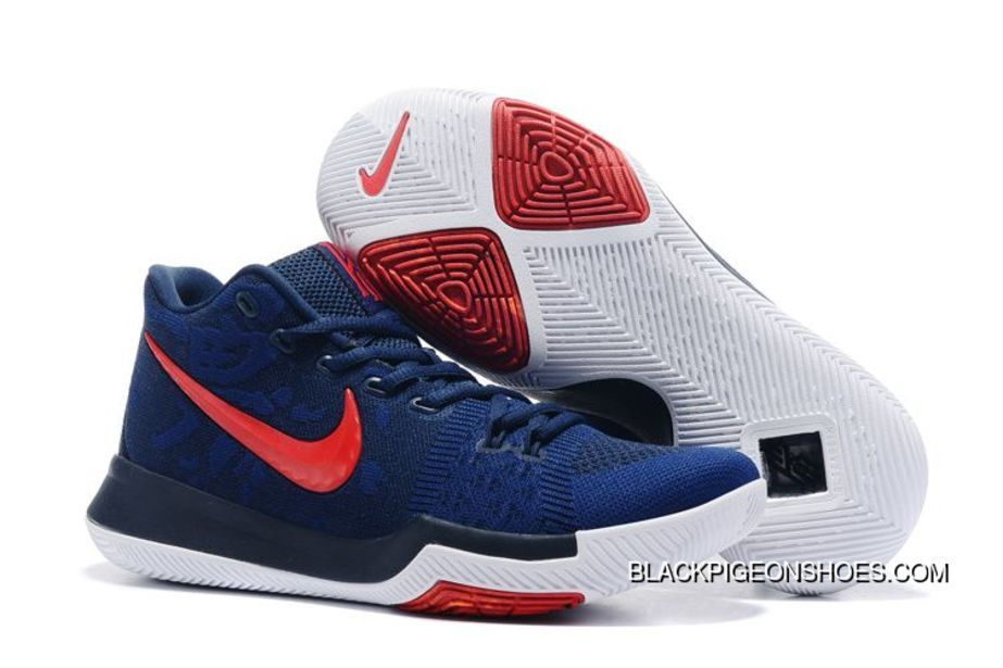 size 40 6b21f 79e7b Nike Kyrie 3 Weave Navy Blue-Red Top Deals | SHOES | Adidas ...