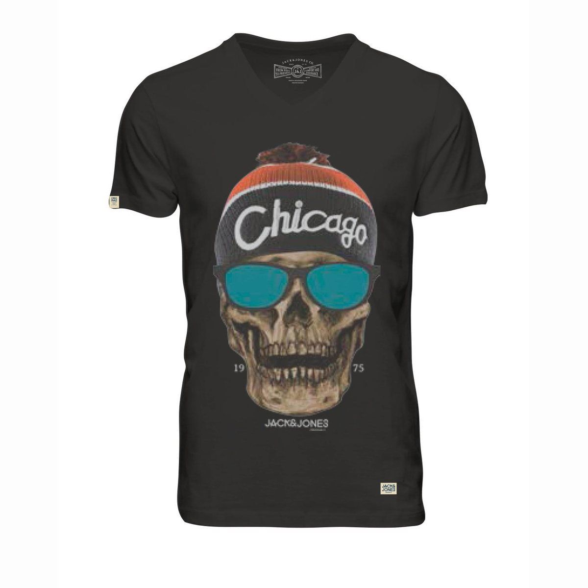 T-shirt skunny estampada, decote em v Jack & Jones | La Redoute