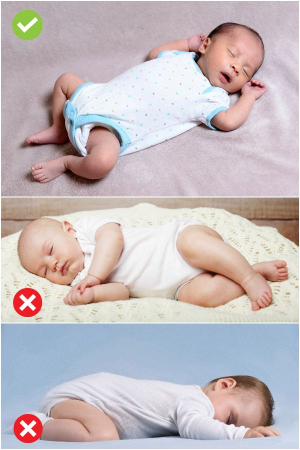 what position to put a newborn baby to sleep