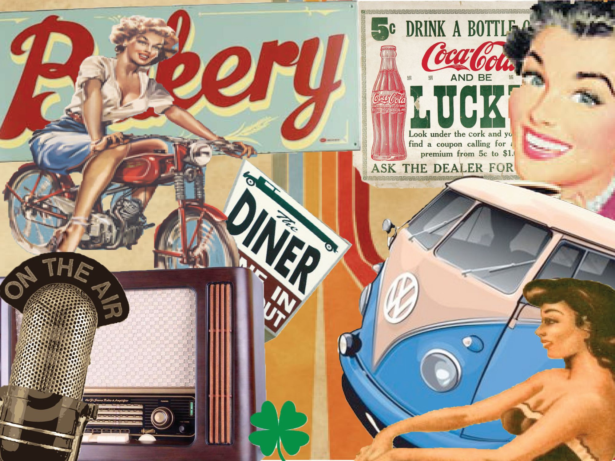 This moodboard gives you a old skool feeling.