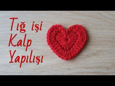 Amigurumi Tığ İşi Kalp Yapılışı Türkçe Anlatımlı Videolu