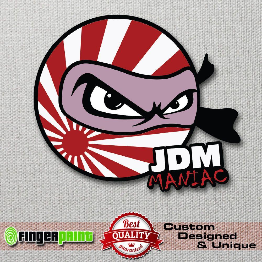 JDM MANIAC Sticker Decal Vinyl Drift Japan Low Illest Toyota Honda - Lexus custom vinyl decals for carthe shocker vinyl decal sticker jdm drifting nissan toyota honda