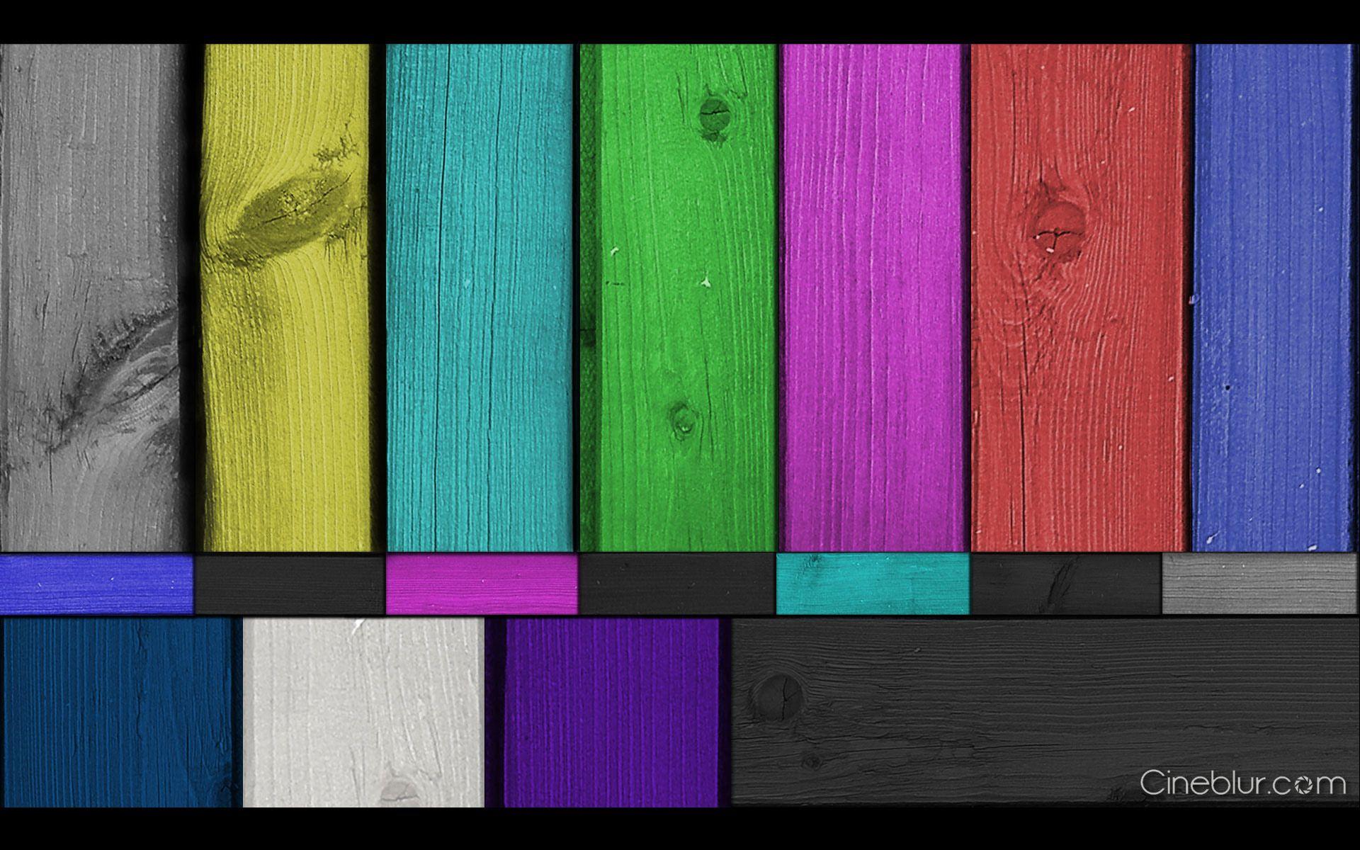 Free color bars wood plank wallpaper