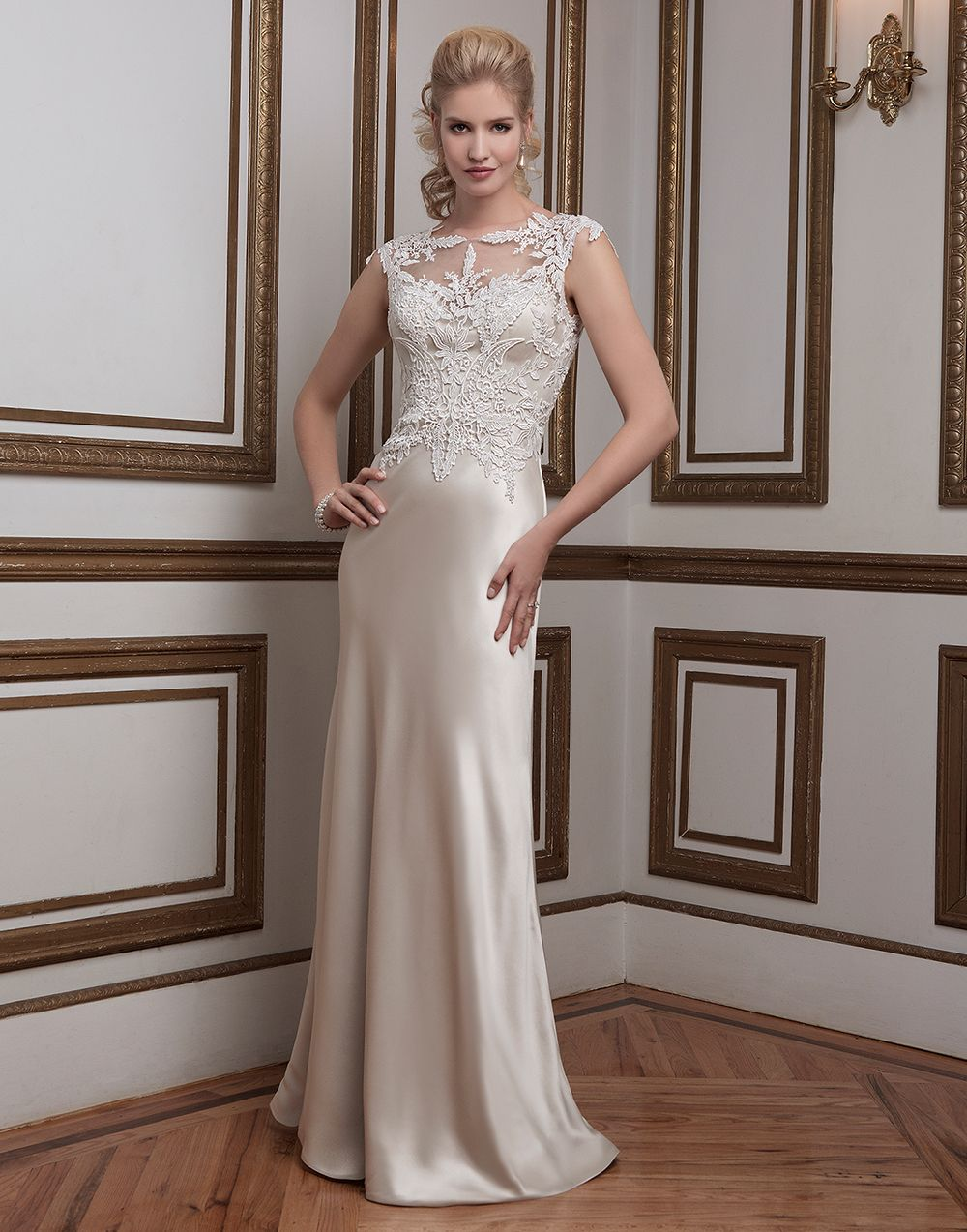 Justin Alexander Wedding Dresses Style 8792 Venice Lace And Luxe Charmeuse Straight Accented With A Sabrina Neckline
