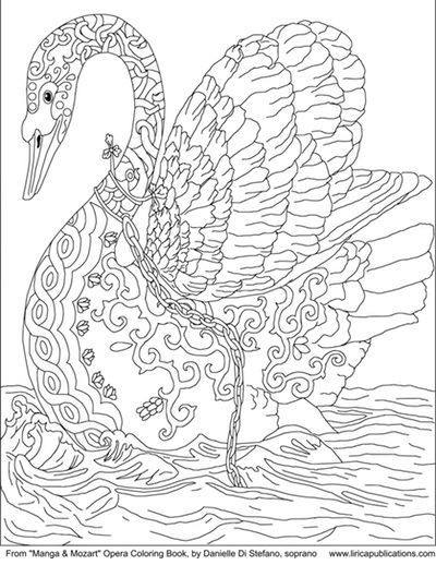 Free coloring pages cleverpedias coloring page library swans free and adult coloring