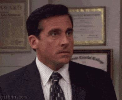 When I Hear That Kanye West Did A Cover Of Queen S Bohemian Rhapsody Michael Scott Office Gifs Steve Carell