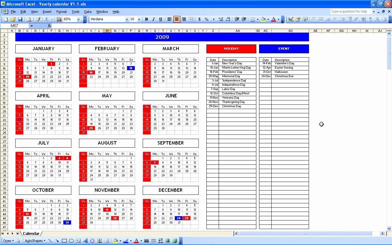Monthly Event Calendar Template Awesome Event Calendar Excel