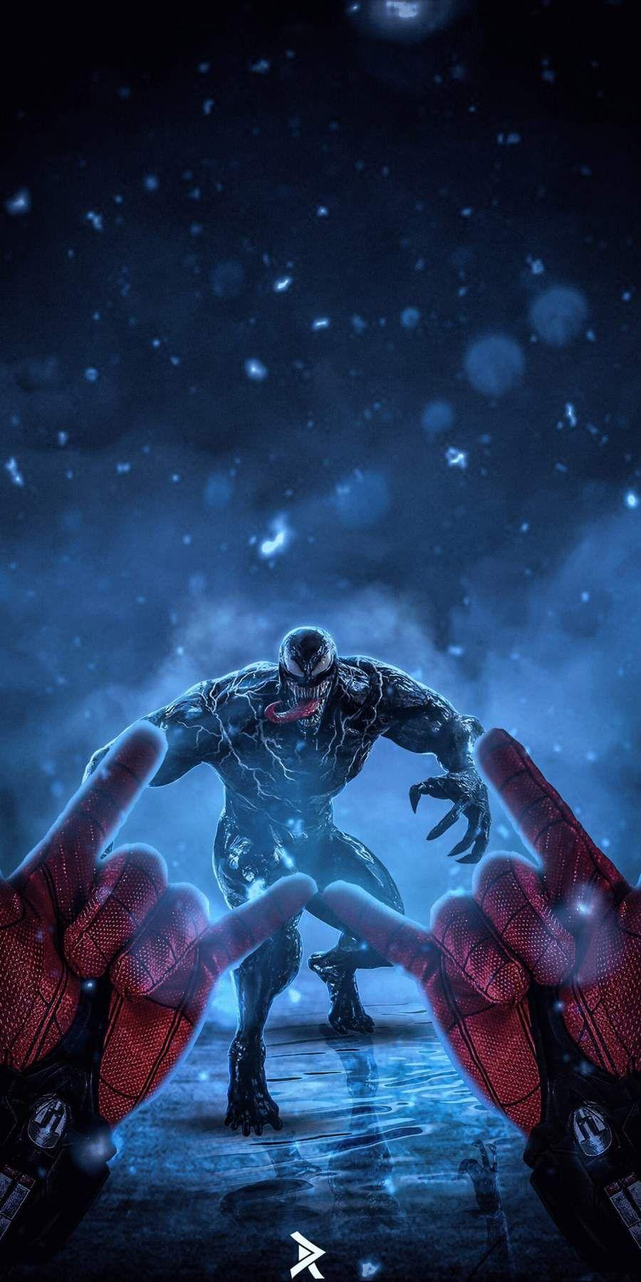 Spidey Vs Venom Ready Attack Iphone Wallpaper Personajes De Graffiti Trajes De Spiderman Imagenes De Venom