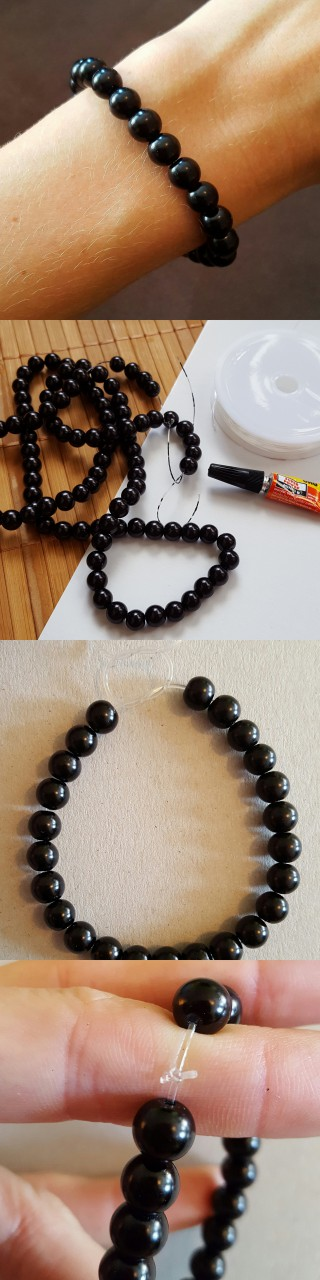 Schmuck herstellen  Einfaches Perlenarmband selber herstellen | DIY Armband Perlen ...