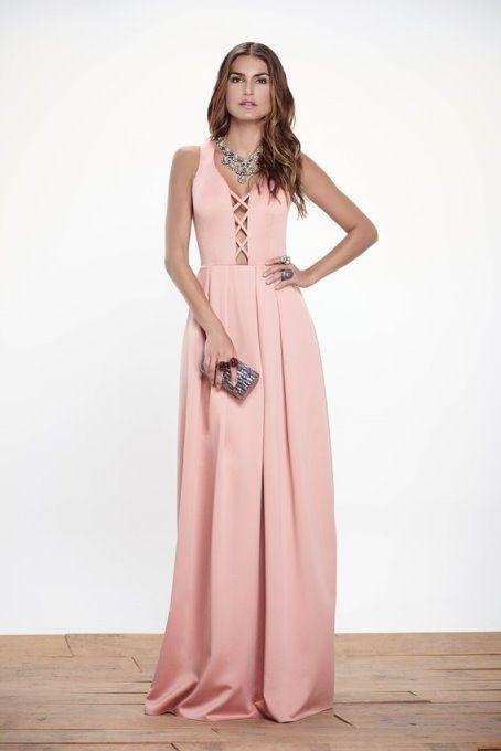 O decote da vez! | Vestiditos, Vestido rosado y Modelos de vestido
