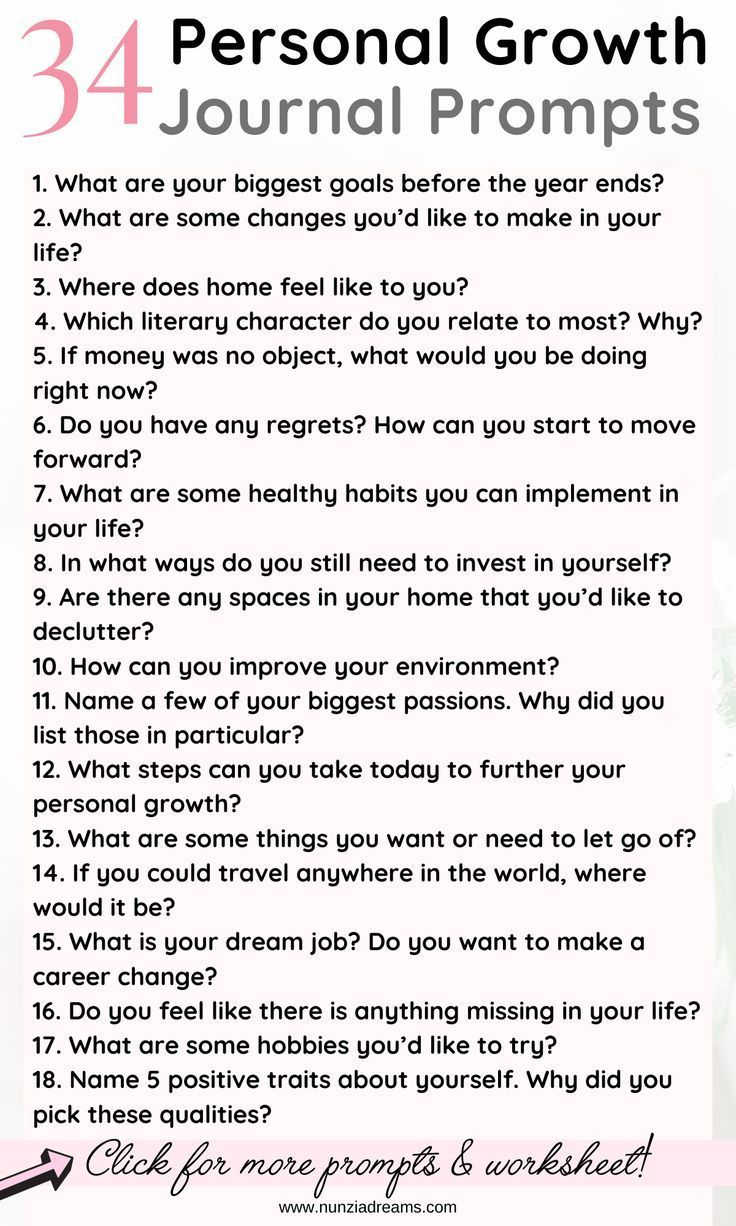 34 Inspiring Journal Prompts for Personal Growth | NunziaDreams