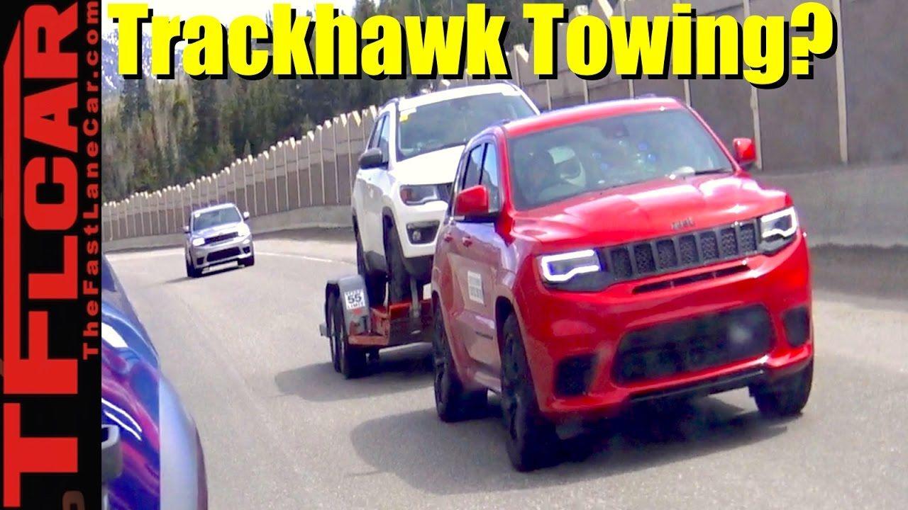 Is The 707 Hp 2018 Jeep Grand Cherokee Trackhawk Prototype Spied Towing Jeep Grand Jeep Grand Cherokee Jeep