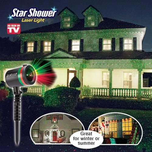 STAR SHOWER LASER LIGHT | Get Organized | As Seen On TV ...