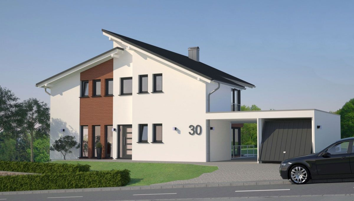 Einfamilienhaus mit Keller, Wohnflaeche 200 m2