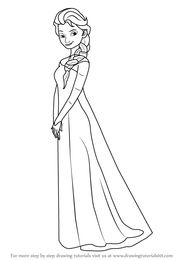 How To Draw Elsa From Frozen Step By Learn Drawing This Tutorial For Kids And Adults