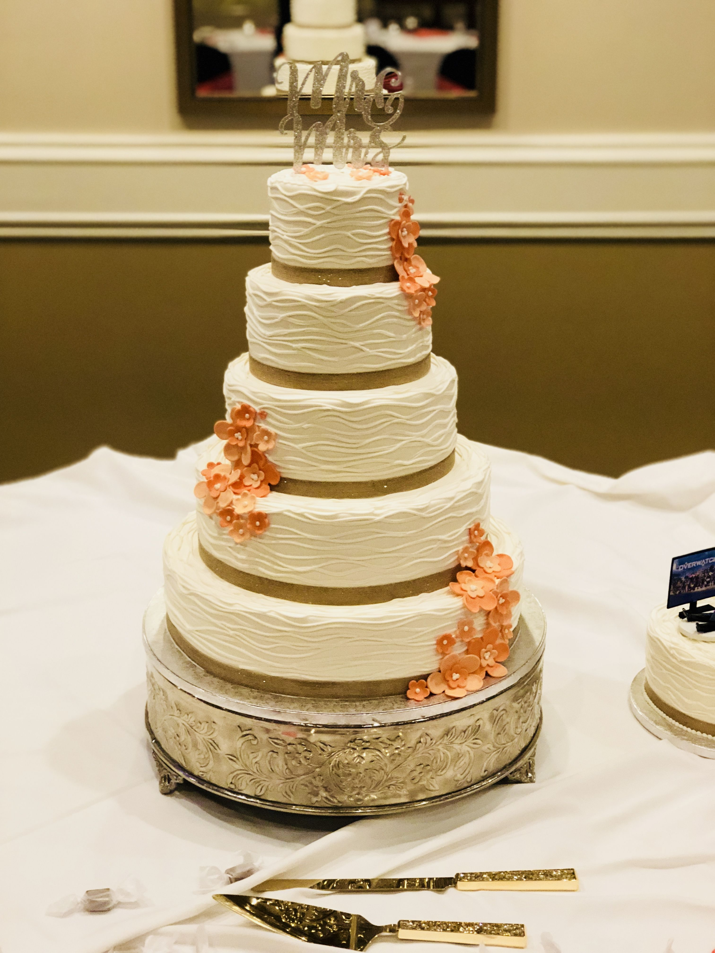 Pin by Cakes By Mindy At Receptions on Yellow and Orange Wedding ...