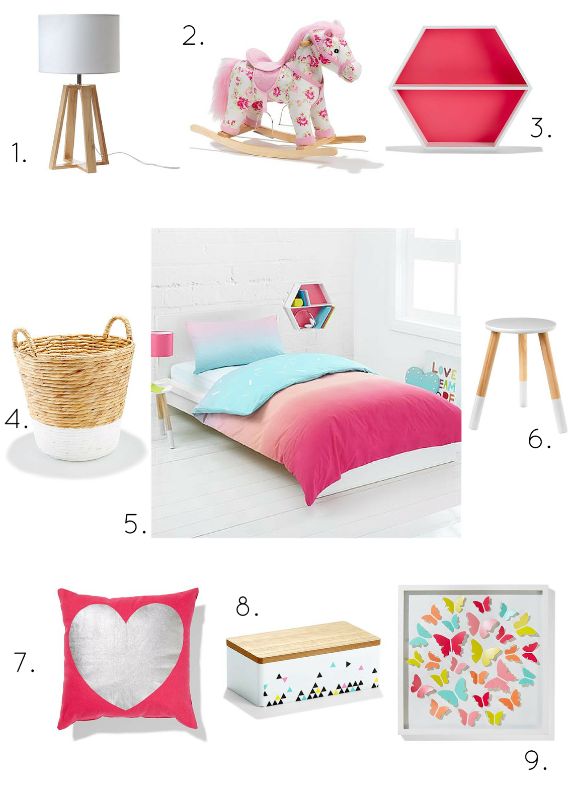 Glamour coastal living styling kids rooms on a kmart Toddler girl bedroom ideas on a budget