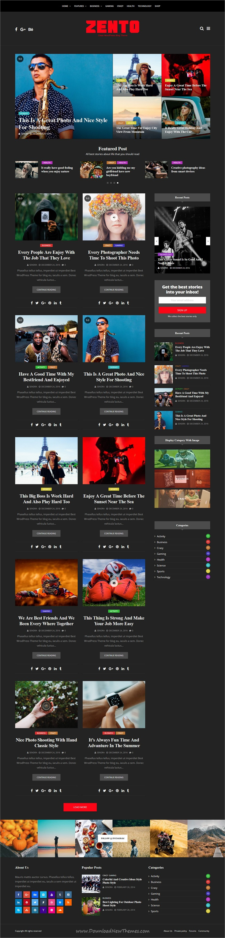 Zento is clean and modern design responsive WordPress theme for ...
