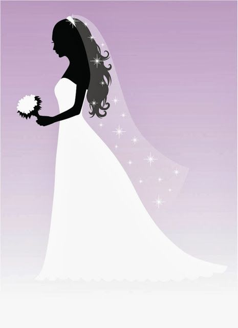 siluetas de novias.   bridal *~ღ~* illustrations   pinterest