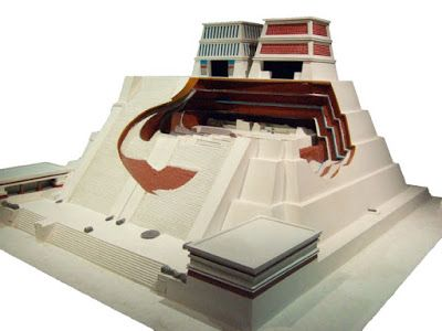 A Model Reconstruction Of The Templo Mayor Of Mexico Tenochtitlan From The Museo Del Templo Mayor One Of Pyramids Ancient Pyramids Archaeological Discoveries