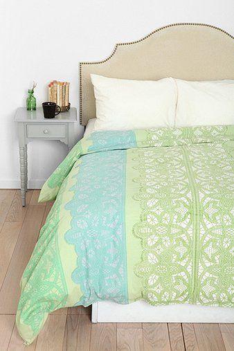 Plum & Bow Lace Stripe Duvet Cover