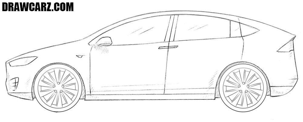How To Draw A Tesla Model X Tesla Model Tesla Model X Tesla