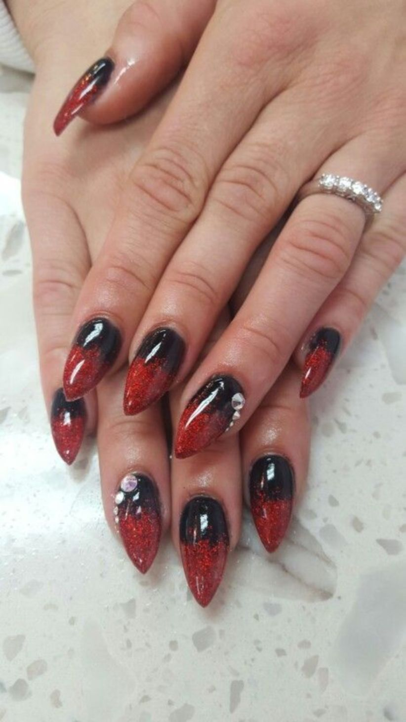 36 Red Ombre Nail Design You Need To Try This Year Nail Style