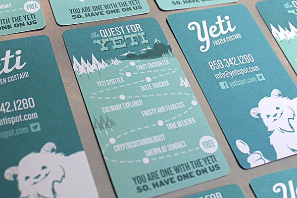 Yeti Frozen Custard by Joe Wilper, via Behance Outdoorz - resume yeti