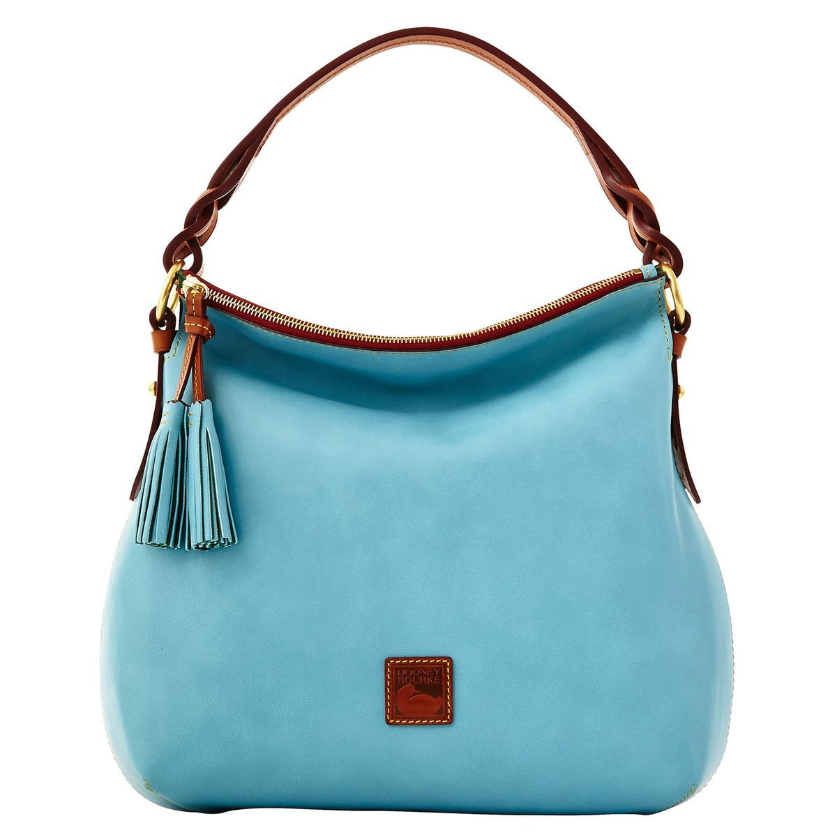 Dooney & Bourke Twist Strap Hobo Bag - Aqua