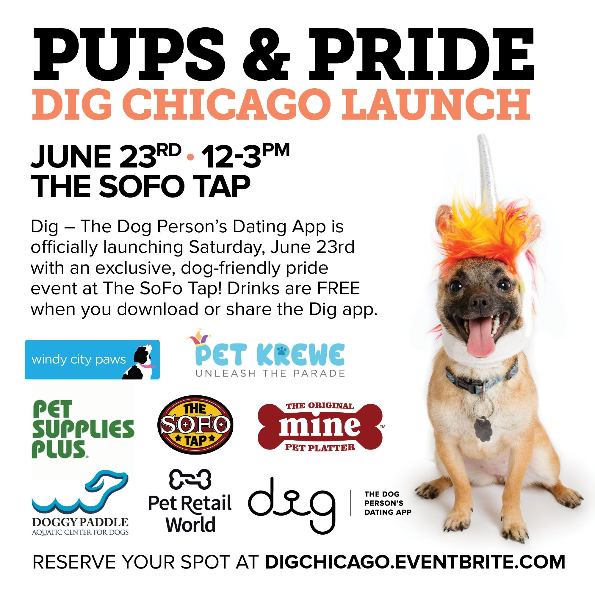 Free dog friendly event in chicago on June 23! Free beer