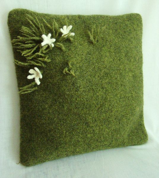 Fulled Wool Cushion Fiona Duthie