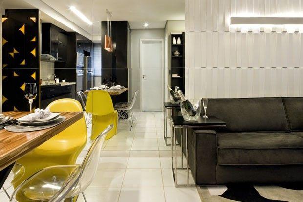 Apartamento pequeno inpirado na Pop Art (Foto Edgard Cesar