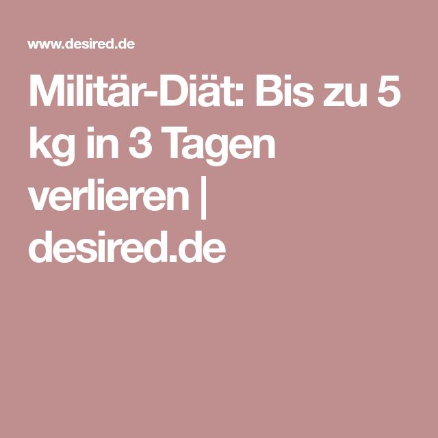 Militärische Diät, um 5 Kilo in 3 Tagen zu verlieren