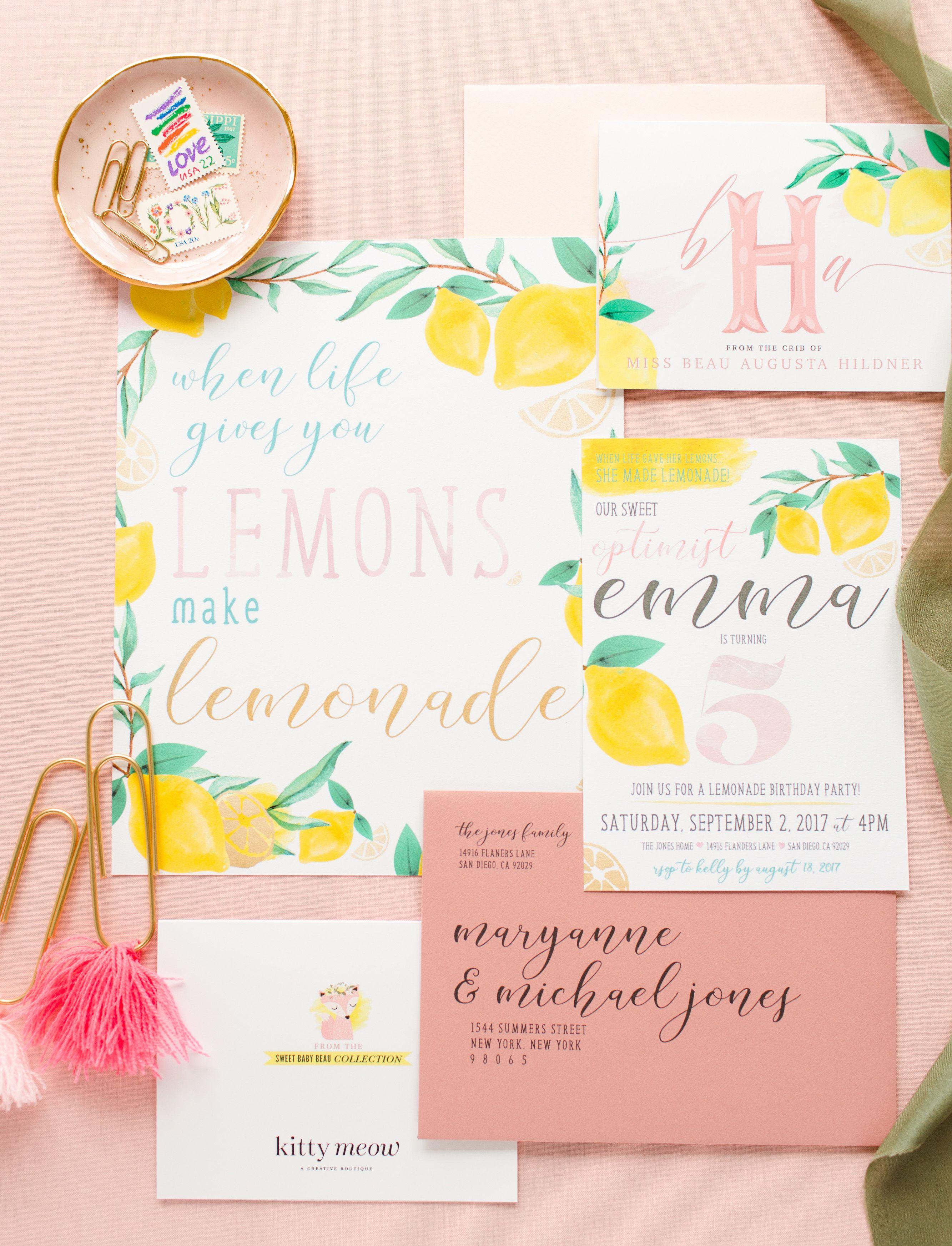 When life gives you lemons, make lemonade! Lemon themed birthday ...