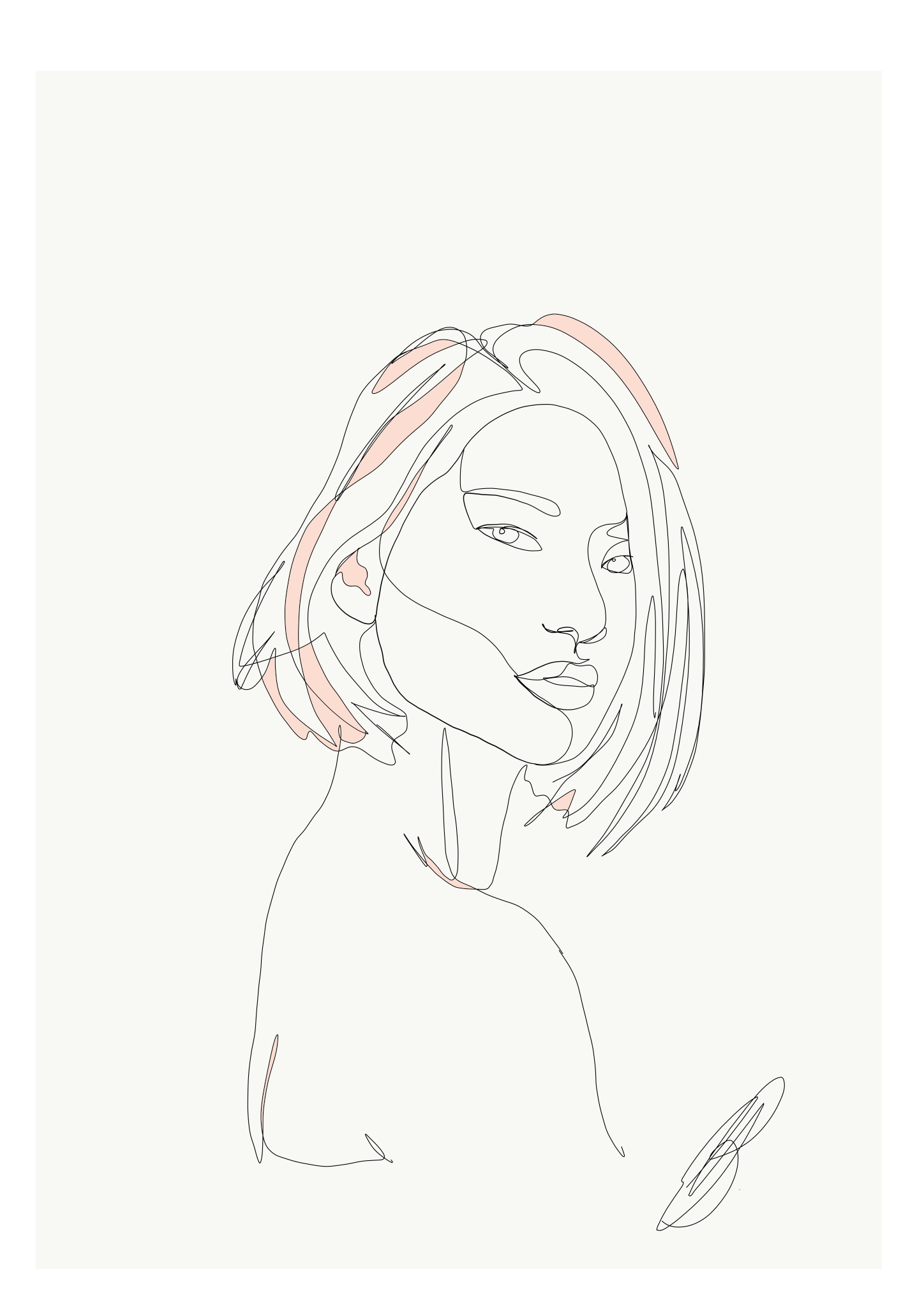 Emma Ryan Single Line Drawing Female Face Portrait Line Drawing Face Line Drawing Drawings