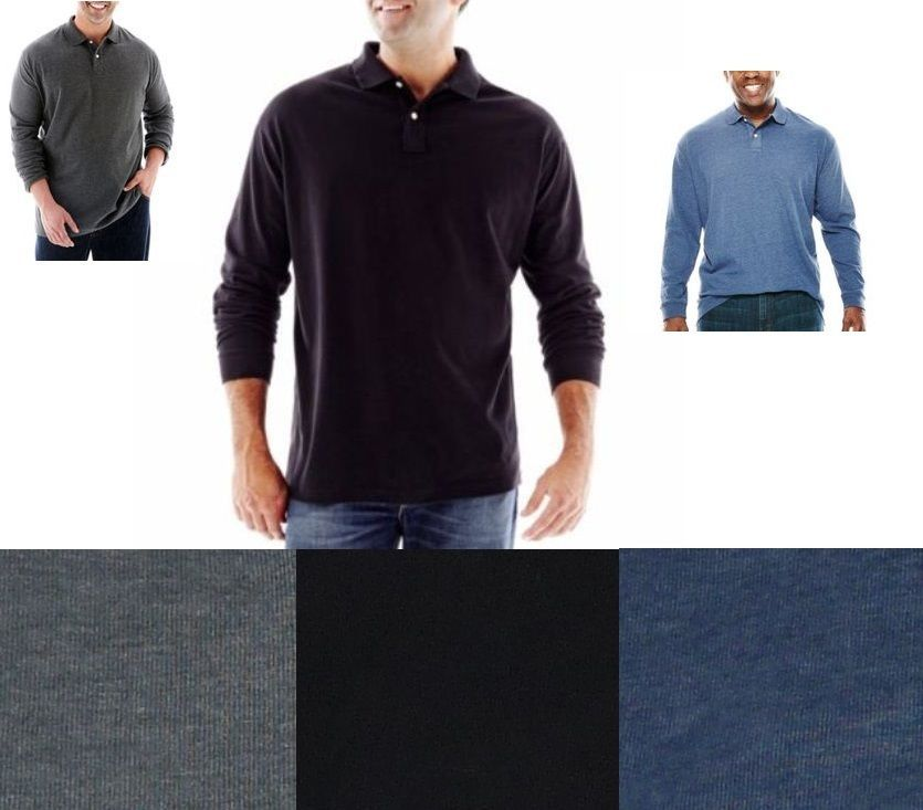 The foundry mens b t polo shirt polo long sleeves size 2xl for Foundry men s polo shirts