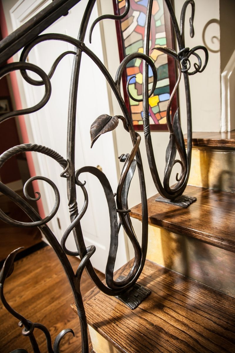 Best Custom Iron Stair Railing By Organic Iron Concepts 400 x 300