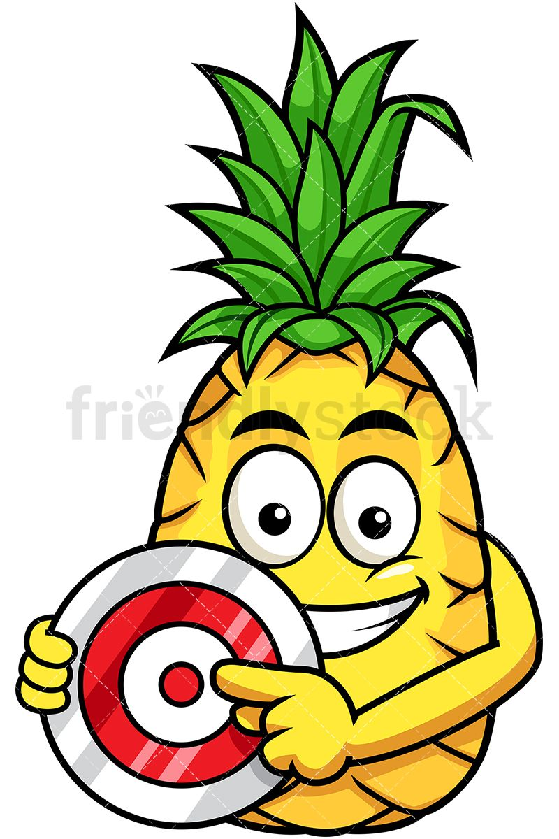Pineapple Pointing To Red Target | Clip art, Free vector ...