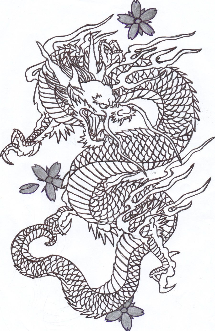 Chinese Dragon 2 By Sunshine Vamp On Deviantart Japanese Dragon Tattoos Dragon Tattoo Outline Chinese Dragon Tattoos